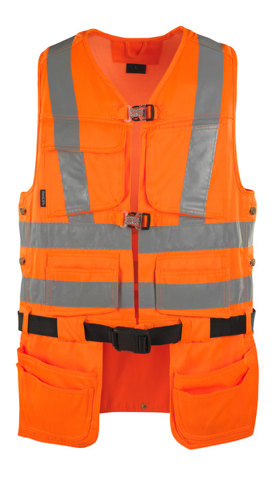 MASCOT® Yorkton - pomarańcz hi-vis  - Kamizelka z czterema wiszącymi kieszeniami na narzędzia, klasa 2/2